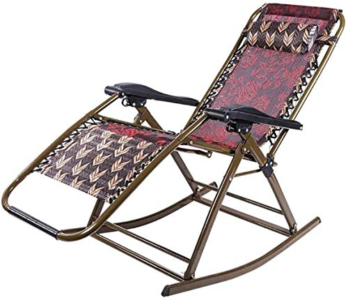 GBLight Sun Lounger Camping Chairs Garden daybeds Folding Chair Outdoor Rocking Chair, Folding Beach Chair, Adjustable Garden daybed, Maternity nap Chair for Adults, Support 200 kg (95 × 66 × 98 cm)