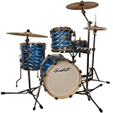 Sawtooth Command Series 4-Piece Shell Pack with 16' Bass Drum, Blue Mirror Metallic, (ST-COM-4PC-16-BMM)