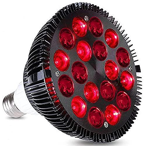 Lámpara de terapia de luz roja 54W, dispositivo de terapia de luz infrarroja de 18 LED, 660nm rojo y 850nm cerca de la bombilla de luz roja combo infrarroja para la