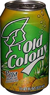 OLD COLONY PIÑA - Puerto Rico's Favorite Pineapple Flavored Soda - 12 oz cans - 8 Pack