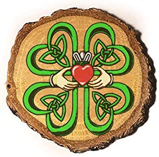 wooden claddagh ring
