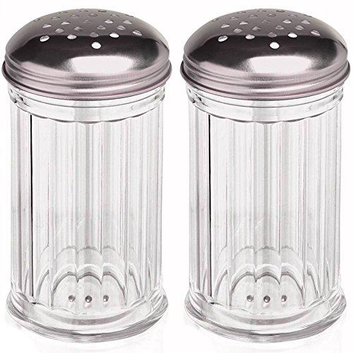 mikken 2 Grosse Gewürzstreuer Rub-Streuer 300 ml aus Kunststoff