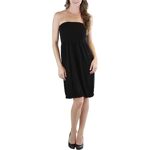 d9a3ef47f8 ToBeInStyle Women's Summer Tube Top Mini Dress