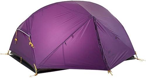 MDZH Tente Tente De Plage De Voyage en Camping pour 2 Personnes en Plein Air Tente Imperméable 3 Saisons à Double Couche
