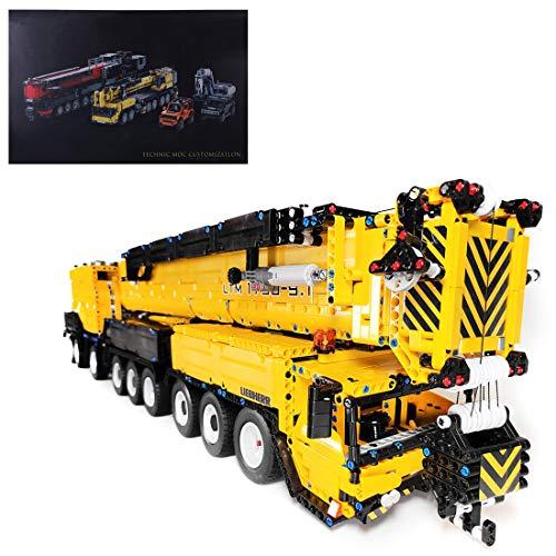 FADY Technik Bausteine Auto, Technik Mobiler Schwerlastkran, Ferngesteuert Kran LKW Bauset Modell Kompatibel mit Lego Technic - 7068 Teile