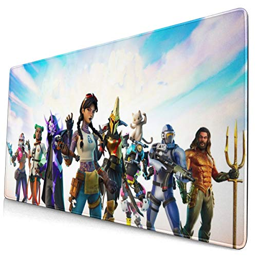 Loutan for Fortnite Season 3 Gaming Mouse Pad, Large Pc Laptop Game Mouse Pad with Stitched Edges, Huge Desk Pad Mat, Anti-Slip Rubber Base Mousepad, 12x24 Inch.