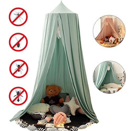 WLD Mosquiteras de verano Mosquiteras, colchas para bebés, mosquiteros de cúpula de algodón, utilizados para prevenir las picaduras de mosquitos y decoración de habitaciones en verano, verde,Verde