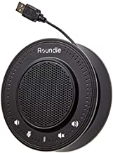 ROUNDLE USB Speakerphone with Noise Cancelling Microphone   Plug & Play   Compatible with Skype, Zoom, Hangouts, Teams & More