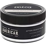 American Shaving After Shave Balm For Men (4oz) - Original Masculine Scent - 100% Natural Moisturizing Aftershave Lotion - Best Aftershave For Men to Soothe Dry Sensitive Skin Post Shave