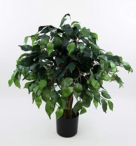 Seidenblumen Roß Ficus Benjamini 60cm grün DA künstlicher Baum Pflanze Kunstbaum Dekobaum Kunstpflanzen Zimmerpflanze Birkenfeige