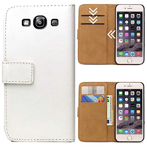 Roar Handytasche für Samsung Galaxy S3 / S3 Neo, Flipcase Tasche Schutzhülle Handyhülle für Samsung Galaxy S3 / S3 Neo Bookcase Wallet mit Magnet, Weiß
