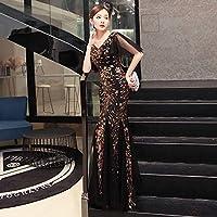 ドレス パーティードレス ウェディングドレス カラードレス ステージドレス Aライン マーメイド レディース aruka_amalie M ブラック