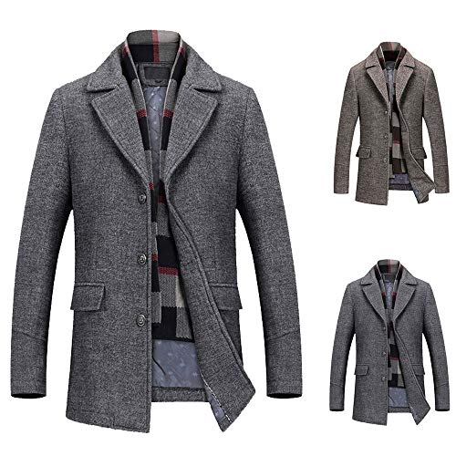 manadlian Homme Blousons Manches Longues Slim Fit Jacket Grande Taille Manteaux Hiver Classique Sweats Pullover Veste Jogging Sport Manteau