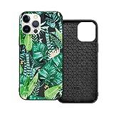 Funda protectora compatible con iPhone 12 / iPhone 12 Pro Jungle Tropical Dark Phone Casos / Funda de silicona suave TPU