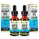 Hemp & Honey RX- Organic Hemp Oil Extract(2 Pack)- 30,000MG-Supports Pain, Stress, Sleep, Anxiety, Joint Relief- Rich in Omega 3, 6 & 9-Vegan-Made in USA-Peppermint Flavor