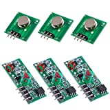 Oiyagai 3pcs 433MHz RF Wireless Transmitter and Receiver Module Kit for Arduino/Arm/McU/Raspberry pi (433MHz)