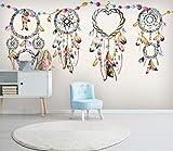 Fototapete Traumfänger 3D Vlies Tapete Moderne Art Wanddeko Design Tapete Wandtapete Wand Wohnzimmer Dekoration,140x100 cm(W x H)