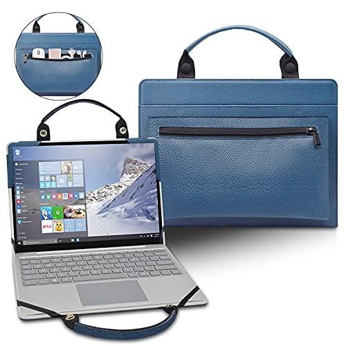 LiuShan 2 in 1 Funda de Cuero de PU + Bolsa portátil para 11.6' HP Pavilion X360 11-apXXXX 11M-AP0013DX/HP Strem 11 11-akXXX 11-AK1012DX [No Adecuado Pavilion x360 11M-adXXX],Azul