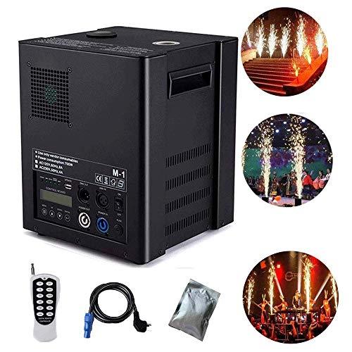 AILZNN DMX Pyrotechnikmaschinen, 400W Cold Spark Feuerwerksmaschine Stage Special Effect Machine per DMX-512 oder Fernbedienung Verwenden Sie in Big Show, Party, Hochzeitszeremonie