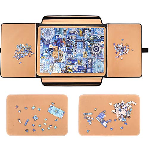 1000 Pieces Jigsaw Puzzle Board Portable, Stowaway Puzzles Board Caddy, Jigsaw Puzzle Case, Puzzle Accessories Puzzle Storage Case Saver, Non-Slip Surface