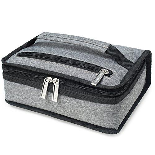 E-MANIS Mini Lunch-Taschen Kühltasche Klein Kühlbeutel Lunchtasche, Kühltaschen & Boxen Männer und Frauen für Arbeit Reisen Kind Schule Grau