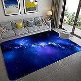 Stillshine. Alfombra Infantil 3D Cielo Estrellado Universo Estrella Galaxia Remolino Patrón Alfombra de Sala Dormitorio Decoración Niña Niño Adulto Antideslizante Alfombra (Color 2,120×160 cm)