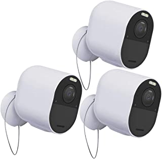 2 Paquete Negro Soporte de Montaje en Pared BECEMURU Soporte de Seguridad antirrobo con Cadena Protector de Cubierta para Montaje Exterior para c/ámara Blink XT