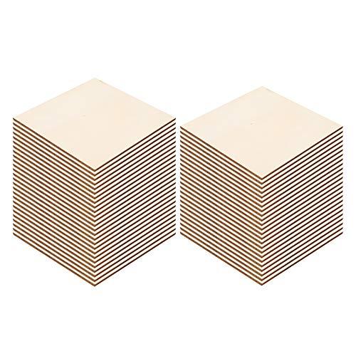 50 Stück Kunsthandwerk Holzplatte DIY Holzplatte Kunsthandwerk Zeichnung Zubehör Handgemachtes Handwerk für Weihnachten(10CM (50 Pieces))