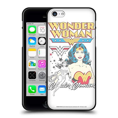 Head Case Designs Ufficiale Wonder Woman DC Comics Bianco Arte Vintage Cover Nera in Morbido Gel Compatibile con Apple iPhone 5 / iPhone 5s / iPhone SE 2016