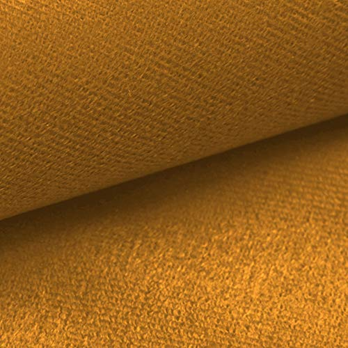 NOVELY® ARTENA Möbelstoff | Velours | samtig weich | Polsterstoff | Bezugsstoff | PFLEGELEICHT | ANSCHMIEGSAM (32 Orangen Gelb)
