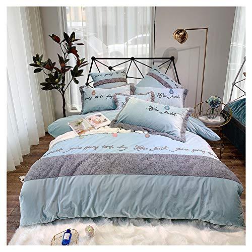 KHDJ Fluffy Bedding, Teddy Fleece Duvet Cover with Pillow Case Supersoft Cuddly Fluffy Thermal Warm Soft Bear Bedding Set,b,200 * 230cm
