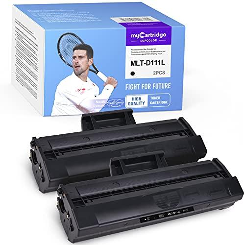 myCartridge SUPCOLOR Tóner D111L compatible con Samsung MLT-D111L MLT-D111S MLTD111S para Samsung Xpress M2020 2020W 2022FW 2022W 2070FW 2070W (2 negros)