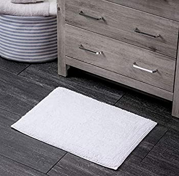 Welhome 17 Inch x 24 Inch 100% Turkish Cotton Bathroom Rug