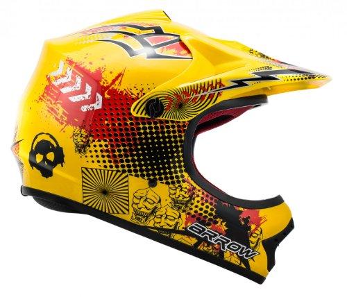 "ARMOR · AKC-49 ""Yellow"" (Gelb) · Kinder-Cross Helm · Enduro Kinder Off-Road Sport Motorrad Moto-Cross · DOT certified · Click-n-Secure™ Clip · Tragetasche · S (53-54cm) - 3"