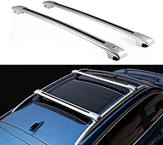 WXHHH 2Pcs Aluminium Alloy Roof Rack Cross Bars Fit for Be nz GLE W166 2012-2018 Universal Cross Bar Roof Cargo Bars Luggage Carrier Rack Lockable Silver
