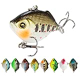 KDOAE Señuelos de Pesca Crankbaits Durno Bait Minnow VIB Life-Like-likeit Popper 8pcs / Set Vibe Hunding Bass Fishing Seures Suministros de Pesca (Color : Multi-Colored, Tamaño : 4.5cm)