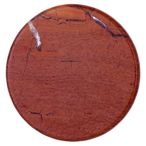 Morella Coins Moneta amuleto Ciondolo Chakra Rotondo 33 mm Gemma Pietra preziosa - Diaspro Rossa