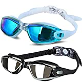 ALLPAIPAI Swim Goggles - Swimming Goggles,Pack of 2 Professional...
