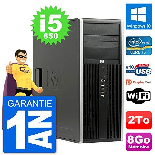 HP PC Tower 8100 Elite Intel Core i5-650 RAM 8 GB Festplatte 2 TB Windows 10 WiFi (überholt)
