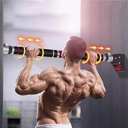 HAKENO Pull Up Bar No Screw Installation Doorway Chin up Bar Adjustable Width Locking Mechanism Fitness Workout Bar Home Gym Equipment (28''-38'')