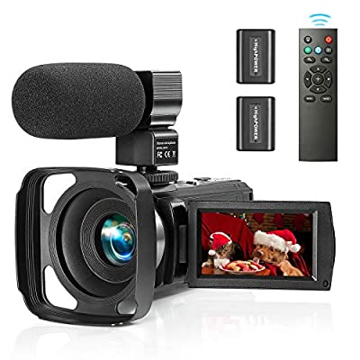 ZUODUN Camcorder Video Camera YouTube Vlogging Camera Recorder Full HD 1080P 30FPS 36MP 3.0 inch Touch Screen IR Night Vision 16X Digital Zoom Camcorder with External Microphone, Remote Control from ZUODUN