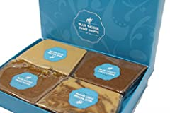 CLASSIC FUDGE SAMPLER | Belgian Chocolate - Chocolate Peanut Butter - Sea Salt Caramel - Pecan Turtle PREMIUM, DELICIOUS FUDGE | This is the best Copper-Kettle Fudge around. We're a family company and have refined our Recipe to make Creamy, Smooth fu...