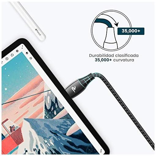 RAMPOW Cable USB Tipo C a USB A 3.0 Cable USB C Carga Rápida Aleación de Zinc de por Vida [USB C 3.0 5Gbps] para Samsung… 5