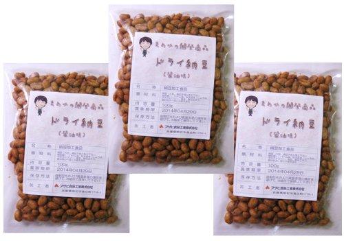 豆力 国内産 ドライ納豆(醤油味) 100g×3袋