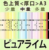色上質(中量)A3<厚口>[ピュアライム](250枚)