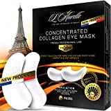 Golden Eye Mask Eye Patch Collagen Under Eye Mask Pads Anti-Aging Hyaluronic Acid Eye Gel Patches for Moisturizing & Reducing Dark Circles Puffiness Wrinkles