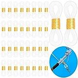 Cisolen 100 unidades de cadenas para gafas, cadenas de goma ajustables, extremos para gafas de sol, correa para gafas de sol