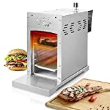 JOM Barbecue à gaz Acier Puissance: 3,5 KW/ 800 °C Inoxydable Original – Steak Grill Dimension: 220 x 535 x 410 mm, Grillade: 265 x 157 mm