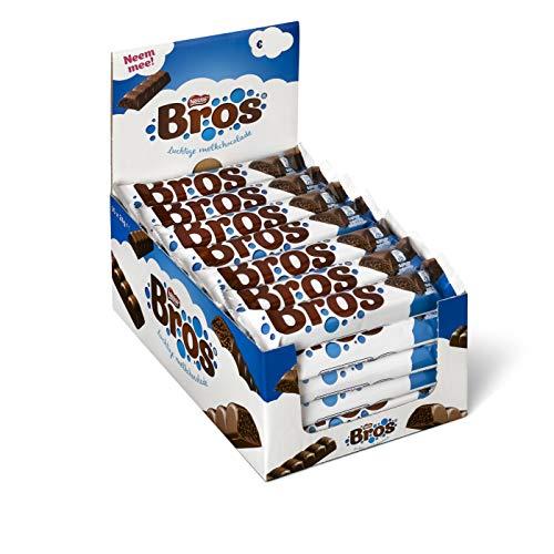 Bros chocoladereep melkchocolade - doos met 35 candybars(35x24 gram)