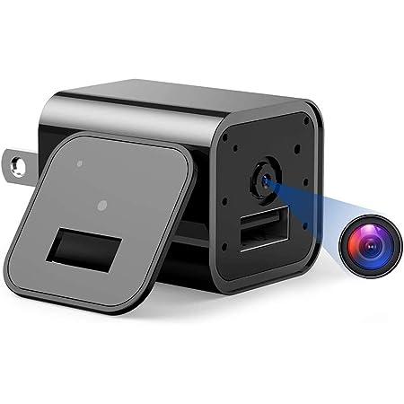 隠しカメラ 小型カメラ 1080P ループ録画 動体検知 32GBカード付き 音声付き 防犯監視 NAG1 ブラック